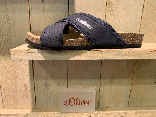 s.Oliver slipper blauw